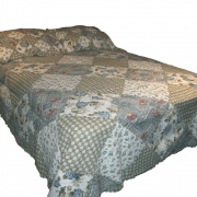 Wholesale Blue Rose Quilted Throw