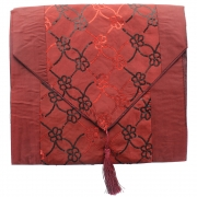 Sequin Silky Table Runner - Red
