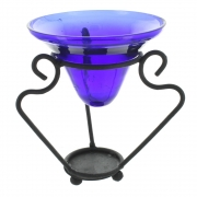 wide iron and glass oil burner