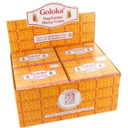Goloka Nagchampa Dhoop Cones - Box of 12 Packs