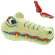 Wholesale Green Crocodile Wooden Decorative Box