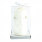 hearts entwined pillar candle 1
