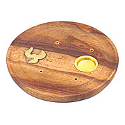 Wholesale Incense Cone Holder Plate - Om