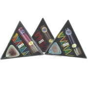 Pack of 3 Triangular Incense Stick and Cone Sets