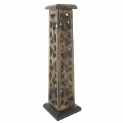 Cutwork Wooden Incense Tower