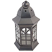 Wholesale Bevelled Glass Nickel Candle Lantern