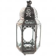 Wholesale Large Hexagonal Copper Clear Glass Lantern