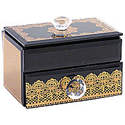 Wholesale Mirrored Jewellery Box - Bronze