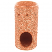Snakeskin-Look Cylindrical Oil Burner Orange