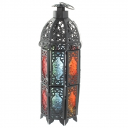 Wholesale Octagonal Coloured Lantern - Black