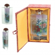 Wholesale Chinese Prism Shaped Inside-Painted Glass Snuff Bottle - Birds And Flowers