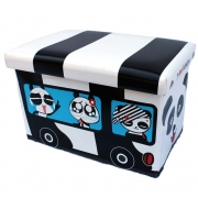 Panda Bus Toy Box And Seat - Large