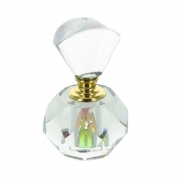 Wholesale Small Faceted Clear Glass Perfume Bottle