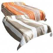 Wholesale Reversible Orange, Brown And White Plus Brown And White Quilted Throw