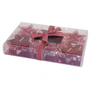 Wholesale Wax Filled Stars - Red
