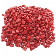 Wholesale Drilled Chip Beads - Red
