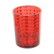 Stars Tea Light Holder - Red