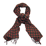 Wholesale wine dogtooth check scarf