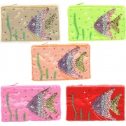 Wholesale Angel Fish Sequin And Bead Purse