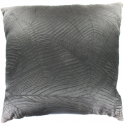 Wholesale Silky Leaf Textured Cushion Cover - Black