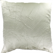 Wholesale Silky Leaf Textured Cushion Cover - Silver