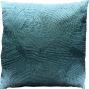 Wholesale Silky Leaf Textured Cushion Cover - Teal