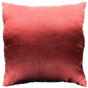 Wholesale Silky Leaf Textured Cushion Cover - Red