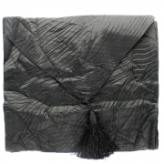 Silky Leaf Textured Table Runner - Black