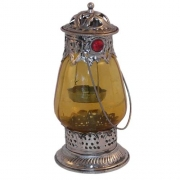 Small Indian Lantern- Amber with Jewels