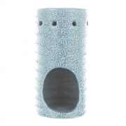 Snakeskin-Look Cylindrical Oil Burner Blue