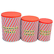 Wholesale Tall Storage Tins - Sugar Plum (Set 3)
