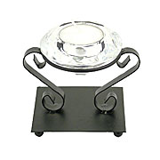 Wholesale faceted glass tea light holder