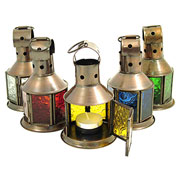 Small Glass Tea Light Lantern