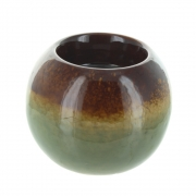 Wholesale Green Brown Ceramic Tea Light Holder