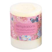 temptations flower candle small lilac 1