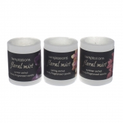 Wholesale Floral Mist Small Pillar Candle