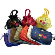two side embroidered dolly bag assorted 1
