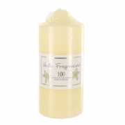 Vanilla Scented 100 Hour Pillar Candle