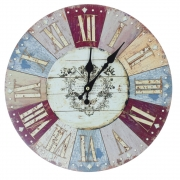 Shabby Chic Wooden Battery Operated Wall Clock - Sir George Design