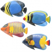 Brightly Painted Large Wall Fish With Glossy Finish