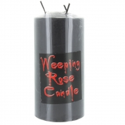 Weeping Rose Large Black Pillar Candle