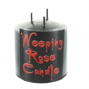 Weeping Rose Small Black Pillar Candle