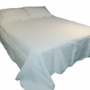 Wholesale White Quilted Throw - Bobble
