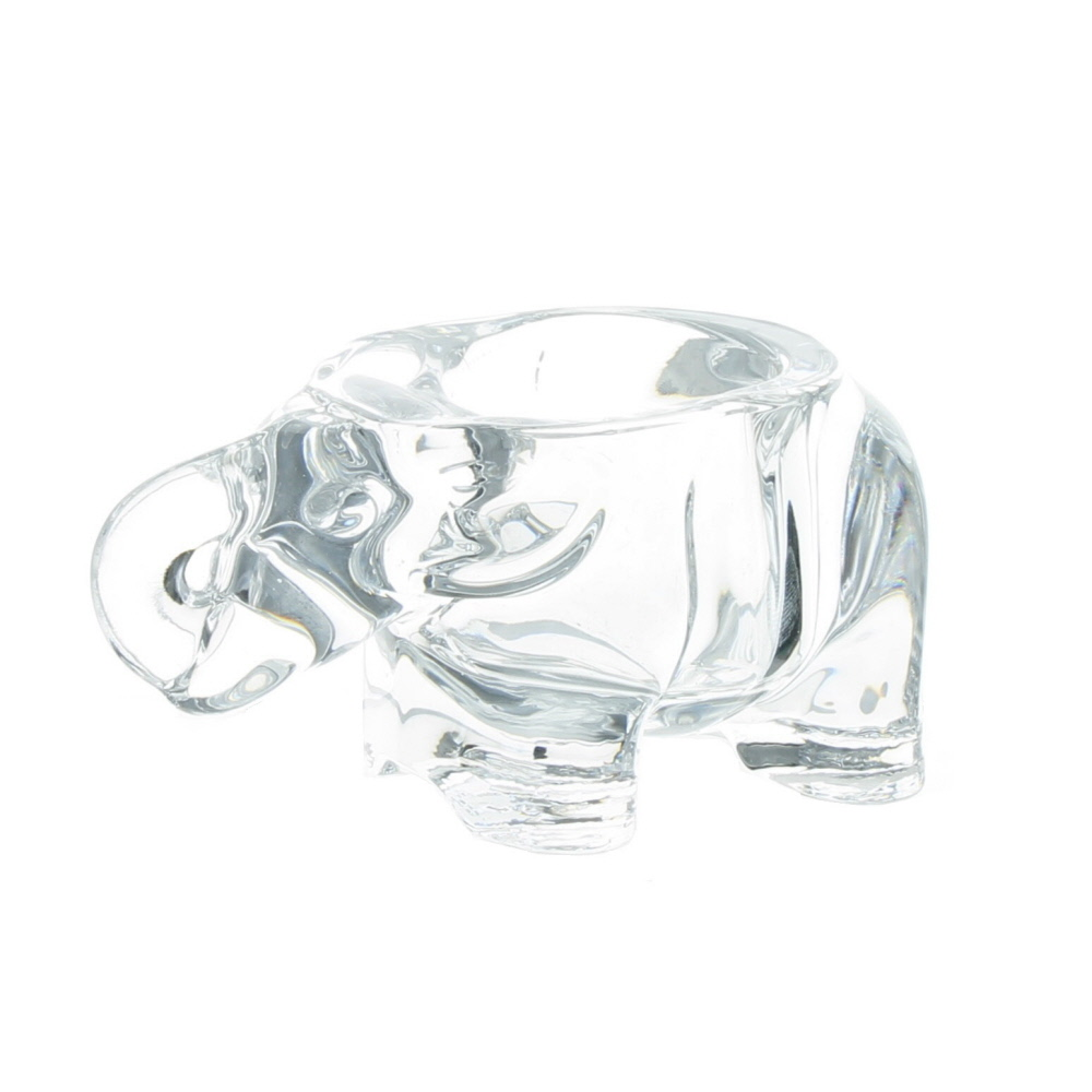 Wholesale Candle Holders - Glass Elephant Tea Light Holder